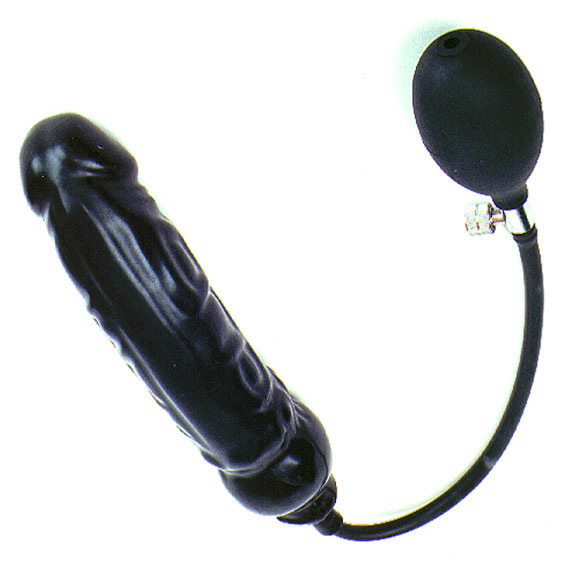 Rubber Inflatable Dildo Xl Semi Rigid 61